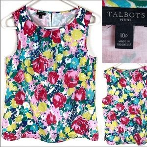 Talbots floral blouse. 100% cotton fully lined